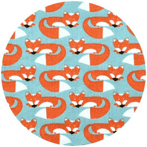 Boy fabric- monaluna organic anika, foxes