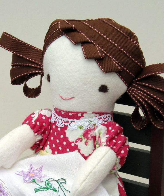 beautiful handmade dollClothing Dolls, Dolls Handmade, Ribbons Hair, Hair Dolls, Genius Hair, Ribbon Hair, Brown Hair, Sewing Tutorials, Handmade Toys