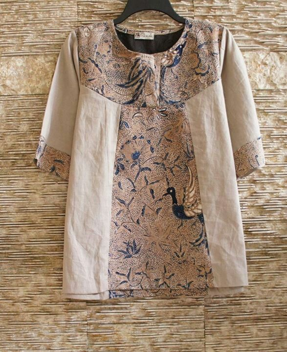 Batik mix blouse