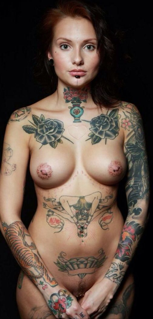 Nude women with tats