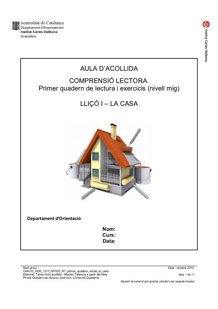 Caaco dos 1213_mt030_r1_primer_quadern_inicial_la_casa