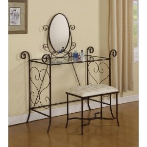 For bathroom extra counter space? Find out if attaching the mirror is optional. $79.99 plus shipping on Amazon.