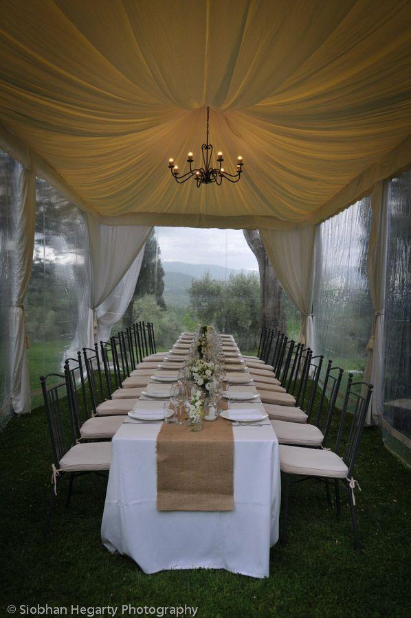 Wedding table set up Umbertide Italy.