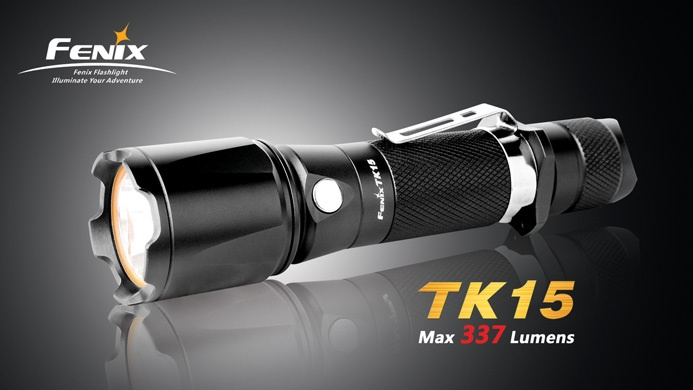 New Fenix TK15 XP G R5 LED Tactical LED Flashlight w Strobe 337 Lumens | eBay