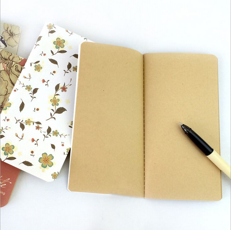 1pcs vintage flower design stationery 48K mini notebook,agenda,student diary Cute memo,Korean style kraft paper inner page