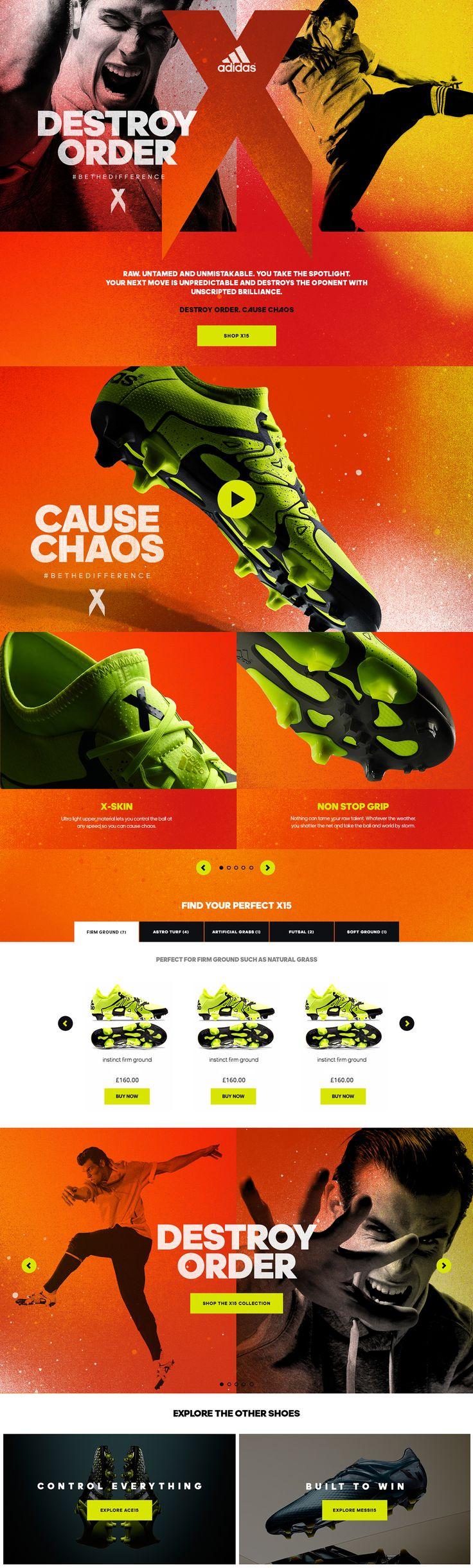 adidas - X15 & ACE15 on Behance