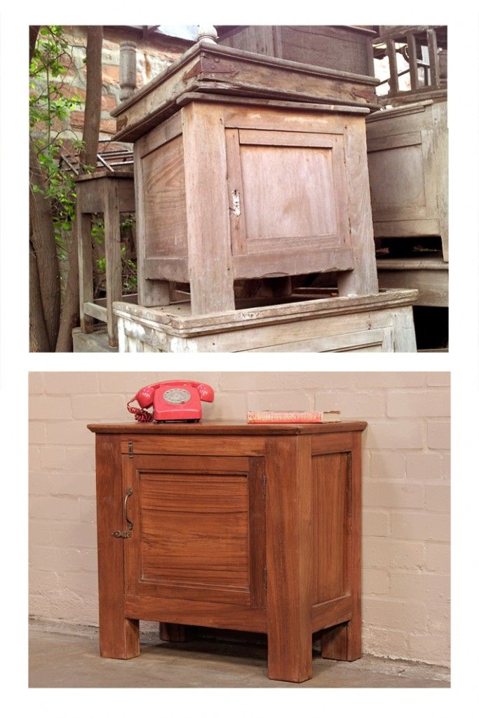 Antique solid teak colonial cupboard. it did not need too much restoration. A replacement handle and lots of wax to bring the teak back to life