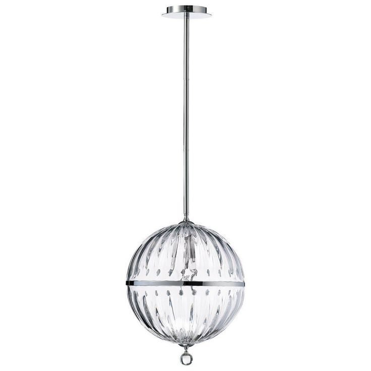 Janus Large Clear Globe Pendant Light By Cyan Design Part Item Finish Chrome Made Of Iron And Glass Other