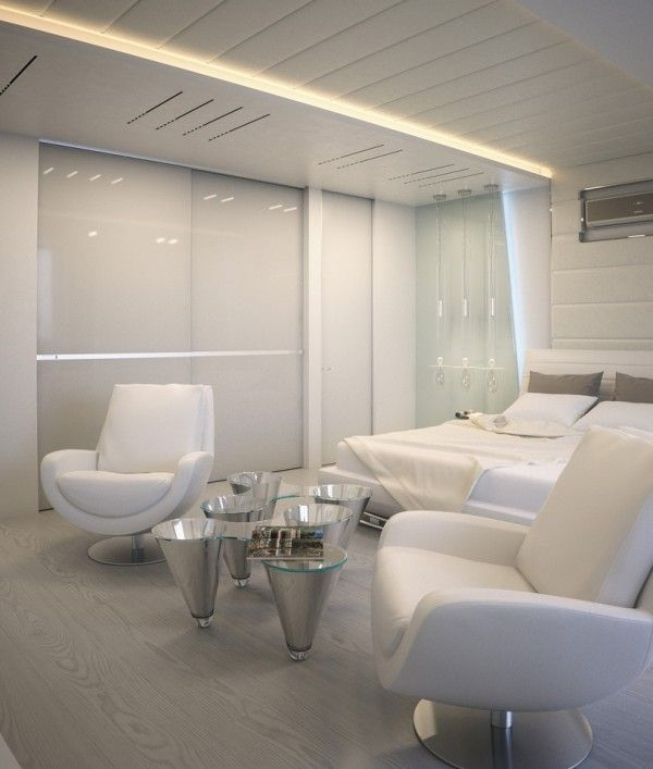 Visualizations Of Modern Apartments That Inspire: Apartment With Soft Hues That Inspire Futuristic
