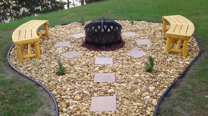 Fire Pit Curved Bench Seating
