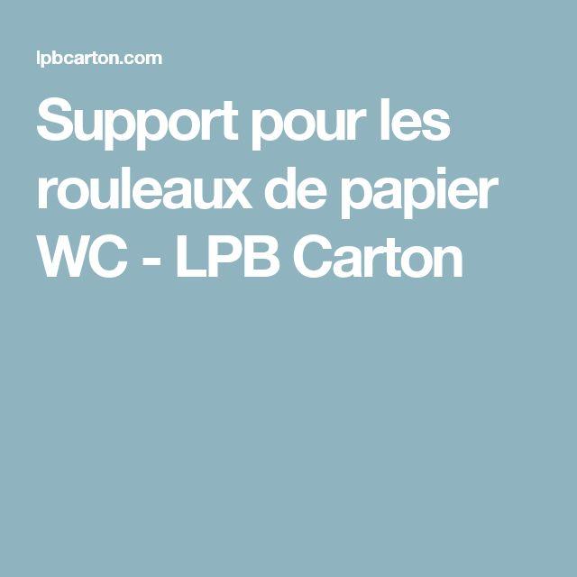 Support pour les rouleaux de papier WC - LPB Carton