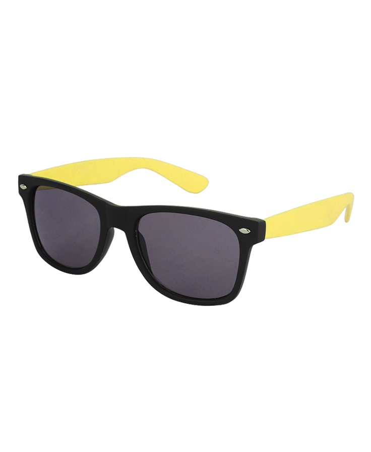Black/Yellow wayferer sunglasses.