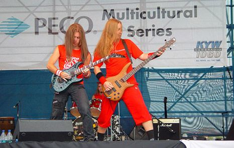 Rock group from Moscow Kolizey light up Mosaica stage in 2007