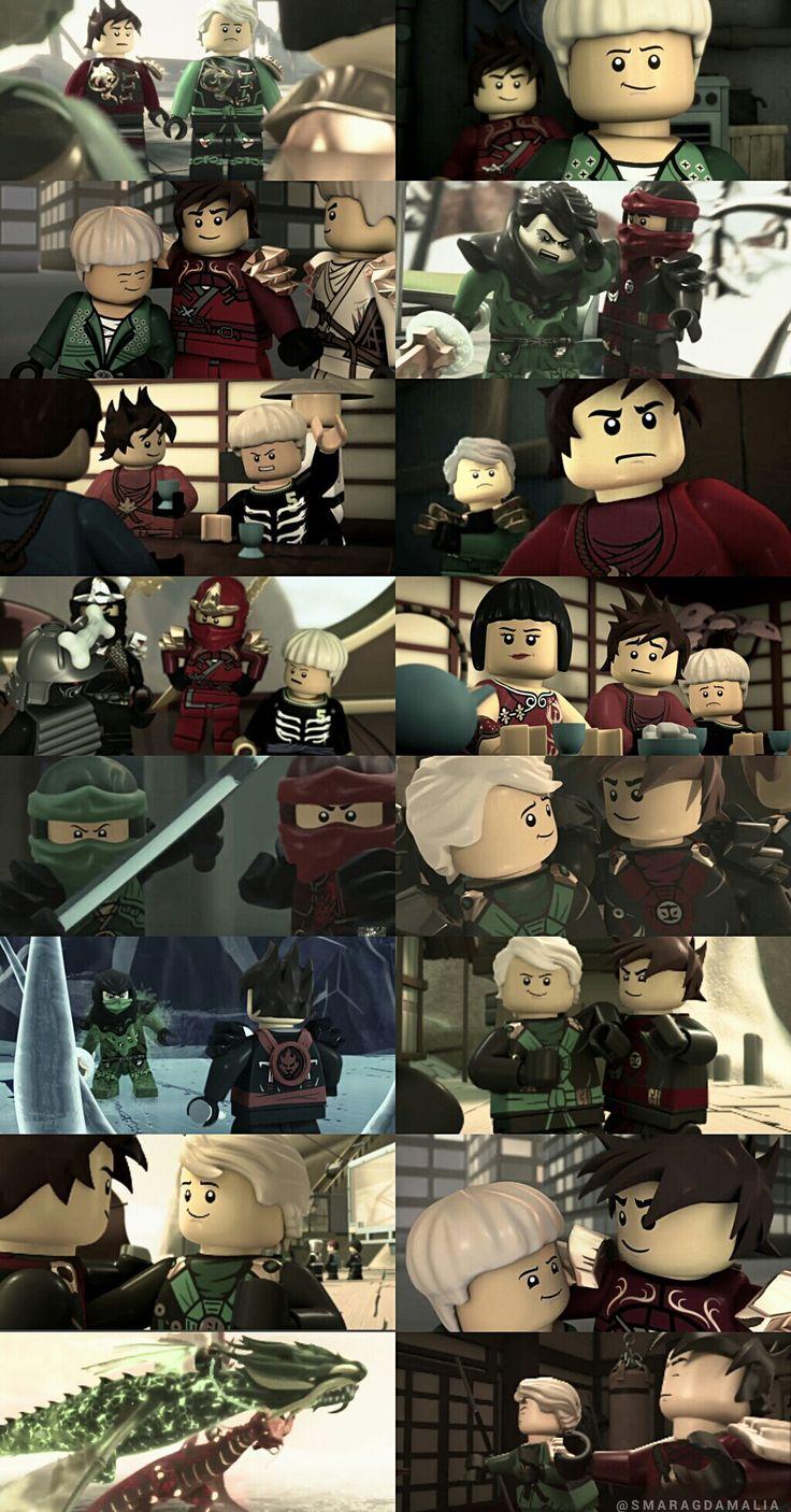"• #LEGO #NINJAGO • #Lloyd #LloydGarmadon #Kai #KaiSmith #Nya #NyaSmith 2/2 • [ "" two red and a green one "" ] • My Edit. Hope you'll like it! :-)"