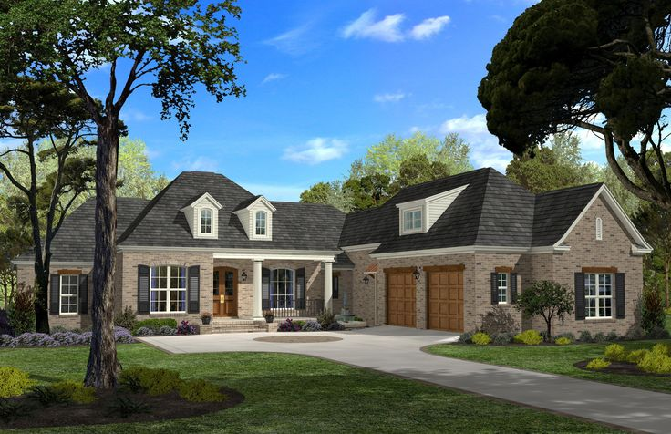 This elegant french inspired home offers 4 large bedrooms, one of which could be used as a study, 2.5 baths, an open floor plan with formal dining room and breakfast/ keeping area. The oversized kitch