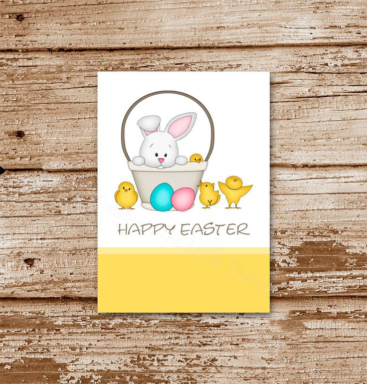23 best easter cards gift tags images on pinterest gift ideas printable easter gift tags favor tags stickers labels easter bunny chicks negle Choice Image