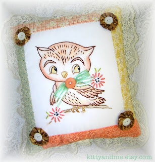 Crazy Quilting and Embroidery Blog by Pamela Kellogg of Kitty and Me Designs: Decorative Embroidered Pillows for Fall and Halloween