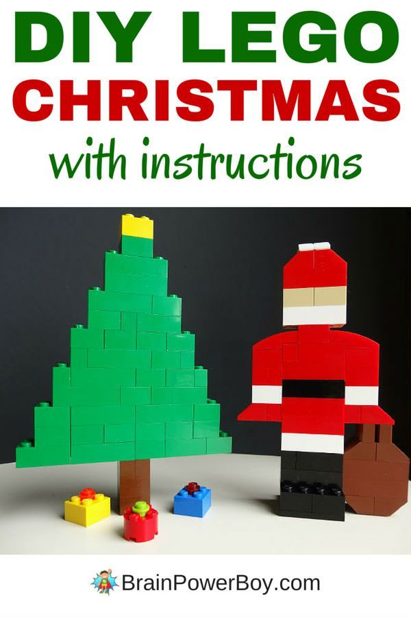 Make your own LEGO Christmas scene with a LEGO Santa, Christmas tree and gifts. Easy to make! Click image for instructions. #LEGO #LEGOChristmas #LEGOSanta