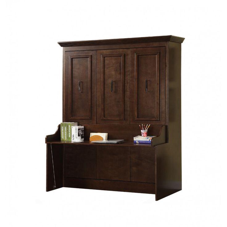 natanielle queen murphy bed with desk walnut