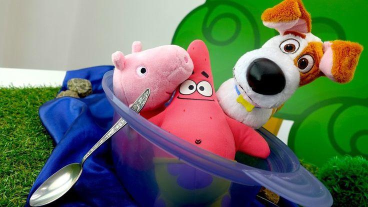 Свинка Пеппа и друзья мультфильма: Тайная Жизнь и Губка Боб идут на пикн...