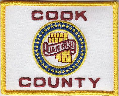 Cook County Flag regular--full color patch (sheriff police fire) IL Illinois