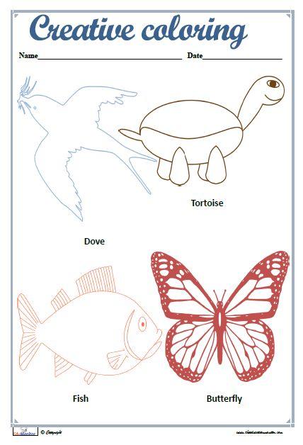 Mejores 121 imágenes de Preschool Worksheets en Pinterest | Hojas de ...