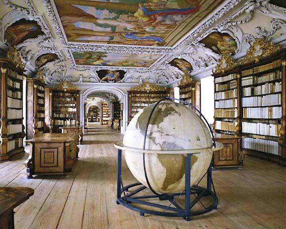 Kremsmuenster Abbey Library, Kremsmnster, Upper Austria.