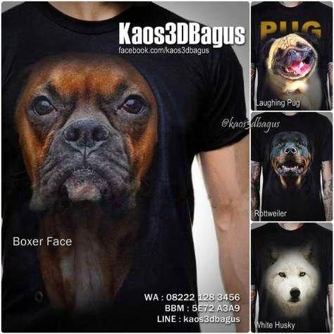 Kaos Anjing BOXER, Kaos Anjing SIBERIAN HUSKY, Kaos Anjing PUG, Kaos ROTTWEILER, Kaos 3D Pecinta Anjing Ras, Kaos Klub Penyayang Anjing, Kaos3D, Kaos DOG LOVER, Kaos DOGGY, Kaos PUPPY, Kaos ANJING LUCU, https://instagram.com/kaos3dbagus, WA : 08222 128 3456, LINE : Kaos3DBagus