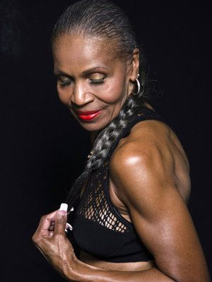 Ernestine Shepherd.....what an inspiration! I want to look just like her when I get to my 70's.