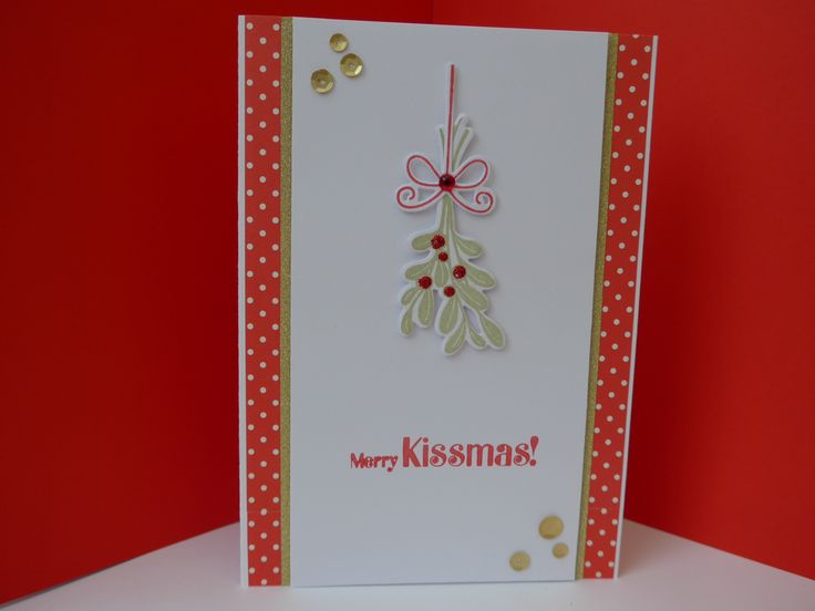Cards made using Clearly Besotted Merry Kissmass stamps.