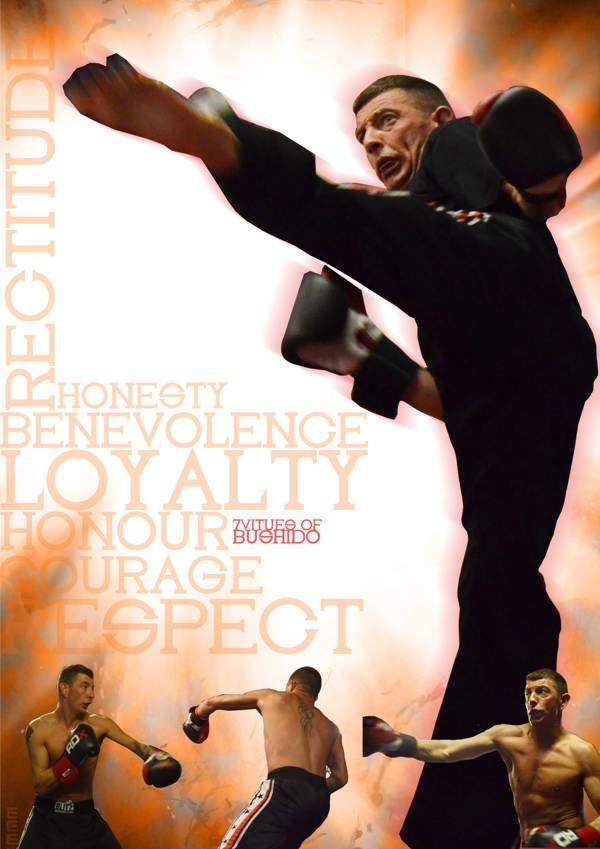Kick Boxing Digital Image by Darryl Brocklesby, via Behance