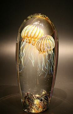 Double Passion Moon Jellyfish Paperweight