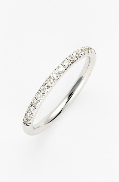 Bony Levy 'Stackable' Large Straight Diamond Band Ring (Nordstrom Exclusive) available at #Nordstrom