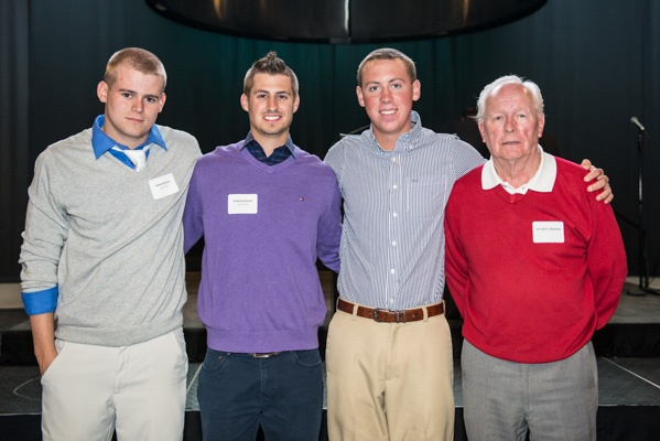 Men's golfers pose with hall of fame coach Don Niskanen at the Beaver Nation Celebration May 2, 2013. Check out our entire photo gallery at BSUBeavers.com: http://www.bsubeavers.com/multimedia/photogallery/2013/387/