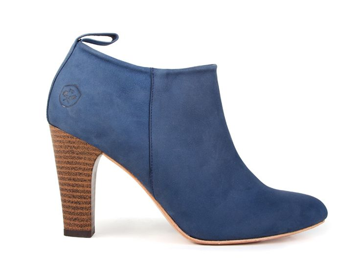 Limited Edition Collection 02: Blue Jean Baby Classic Ankle Bootie by Poppy Barley. Custom fit, ethically made. poppybarley.com