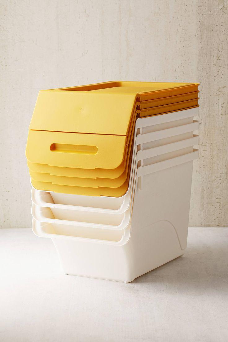 Slide View: 2: Stackable Storage Box Set