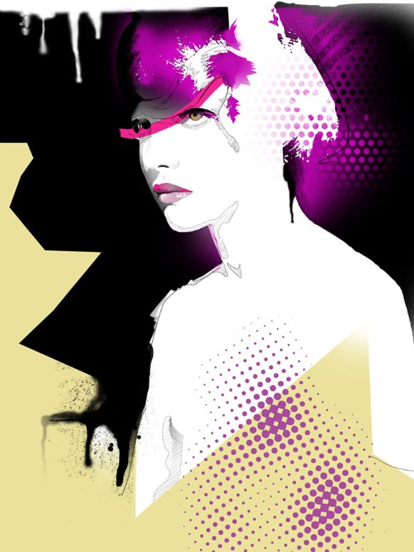 "Some fashion illustration portraits done with digital airbrush (Photoshop and illustrator)  ""Lady Ice Cream"" (Below) was created as the 1st piece of this series.  It was selected for the cover of the fashion illustration book: ""The Great Big Book..."