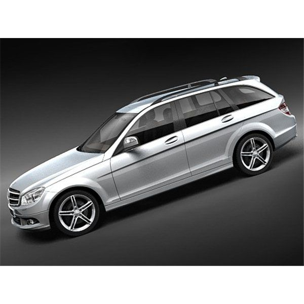 Mercedes C-class 2008 Estate - 3D Model