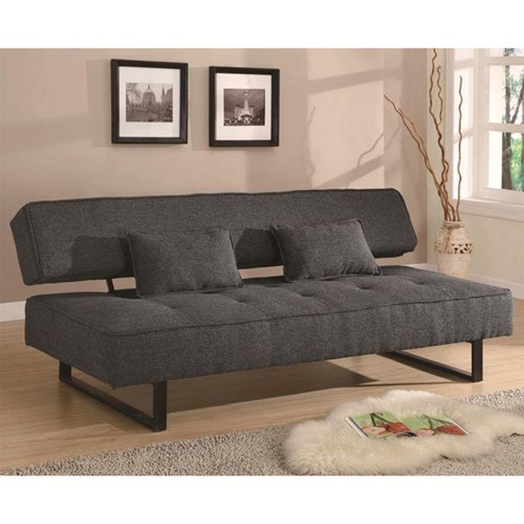 Grey Fabric Full Size Sofa Bed