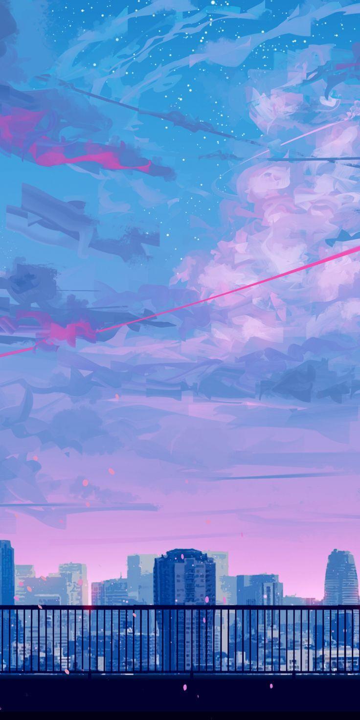 Download 1080×2160 Hintergrundbild Lass uns nach Hause gehen, Stadtansicht, Radtour, Sonnenuntergang, Wolken … – #