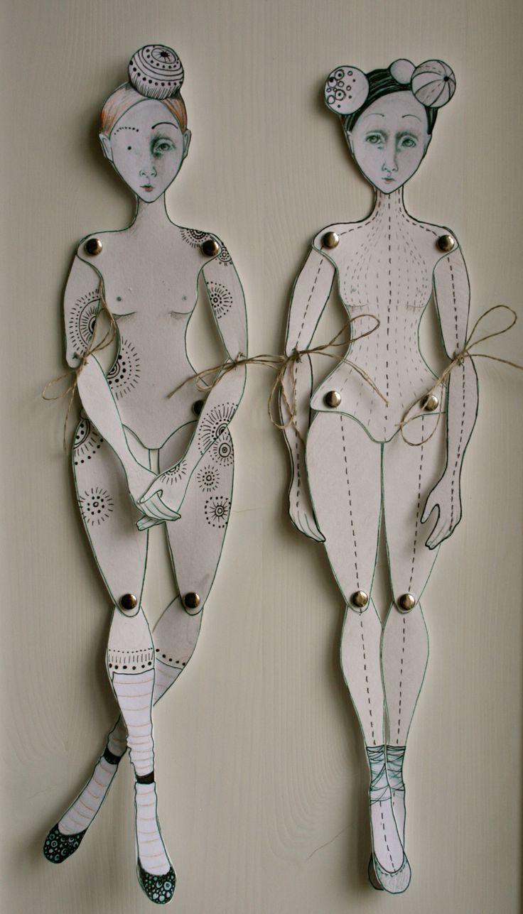 Paper Dolls by Johanna Flanagan Lesson 30/1o1 #LadyGagaHeadToToe #Design1o1Redux
