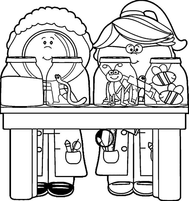 science clipart 132 kids we coloring page