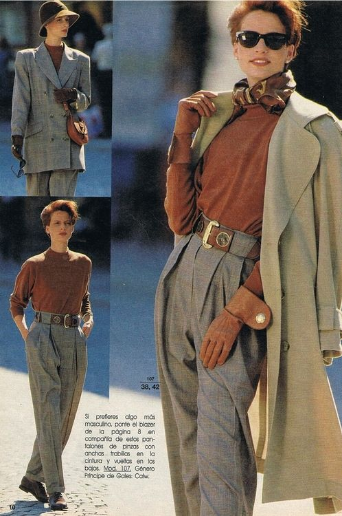 1980s -- <3 those baggy trousers. Oh, and the gloves. Can't ignore the gloves.