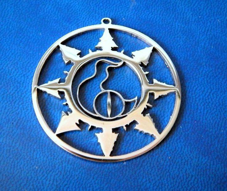 Tzeentch Chaos star Warhammer 40k necklace or keychain stainless steel / Chaos star pendant / Warhammer chaos/…