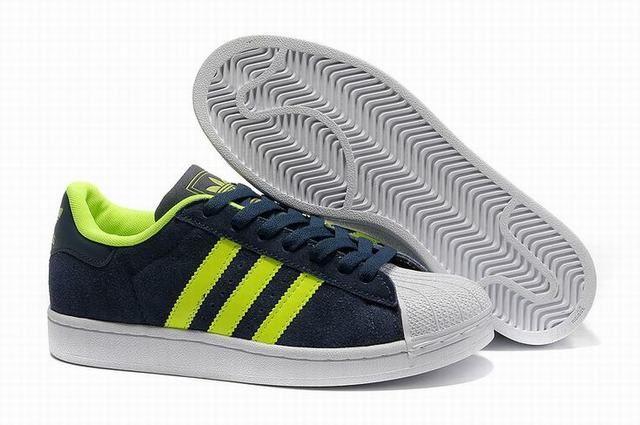 Unisex Adidas Originals Superstar II Suede Navy Green Trainers