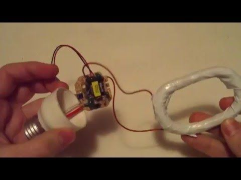 Detector de metales casero reciclando lámpara CFL