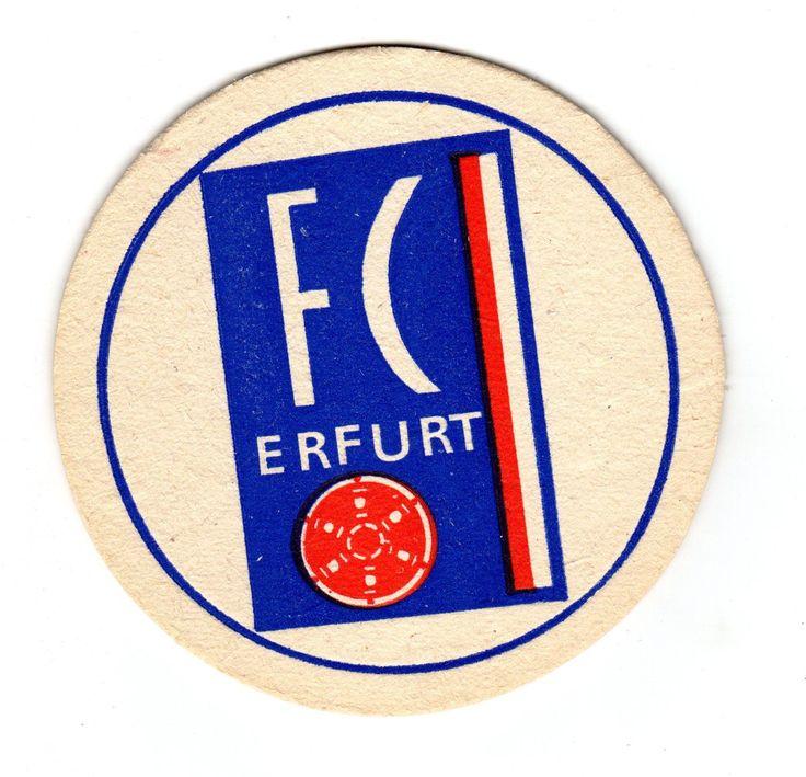 DDR-Fußball-Bierdeckel FC Rot-Weiss Erfurt
