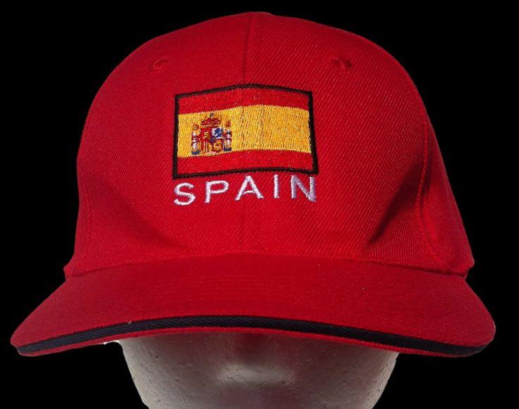 SPAIN ESPANA ES SOCCER TEAM FLAG ALL STAR SPORT CAP HAT