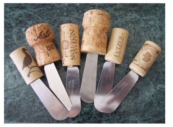 DIY cork butter knife + Five more wine bottle DIYS