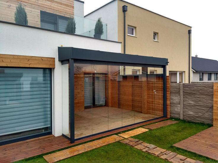 Zimná  záhrada SPECEline  bez-rámový posuvný systém SUNFLEX sf25 sklenená strecha oceľová konštrukcia na mieru